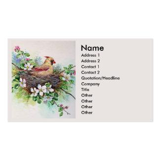 Female Cardinal Redbird Business Profile Card Business Cards