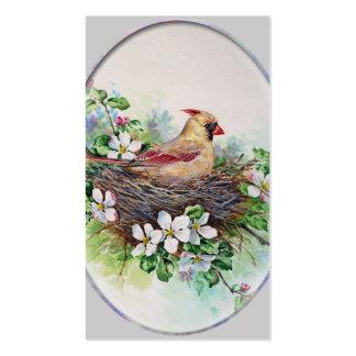 Female Cardinal Redbird Business Profile Card Business Card