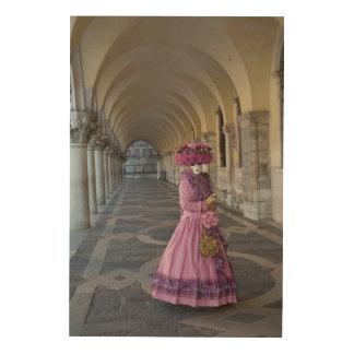 Female Carnival Costume, Venice Wood Wall Art