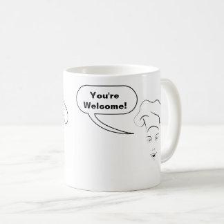 "Female Chef's ""You're Welcome!"" Coffee Mug"