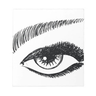female cute eye notepad