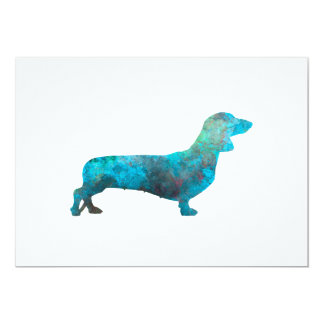 Female Dachshund in watercolor 13 Cm X 18 Cm Invitation Card