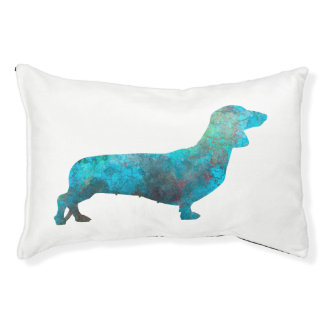 Female Dachshund in watercolor Pet Bed