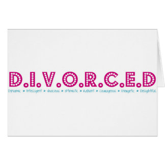 Female Definition of Divorce Card