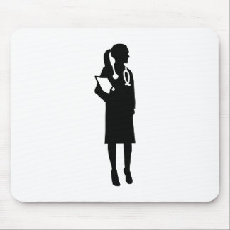 Female doctor mouse pad