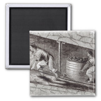 Female Drawer in a Coal-Pit at Little Bolton Square Magnet