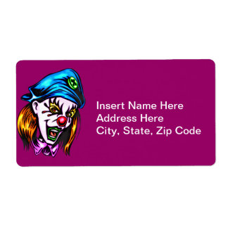 Female Evil Clown Shipping Label
