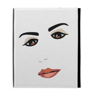 Female Face iPad Cases