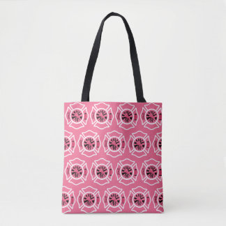 Female Firefighter All Over Print Tote Bag