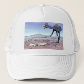 Female gigantoraptor going to its nest - 3D render Trucker Hat