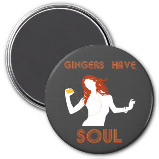 Female Gingers have Soul 7.5 Cm Round Magnet