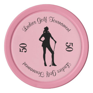 Female Golf Pink Sport Poker Chips