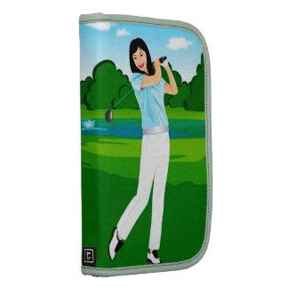 Female Golfer Folio For Smartphone Planner