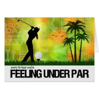 Female Golfer Sports Theme Get Well Card