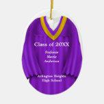 Female Grad Gown Purple and Gold Ornament