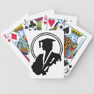 Female Graduate Silhouette Bicycle Playing Cards