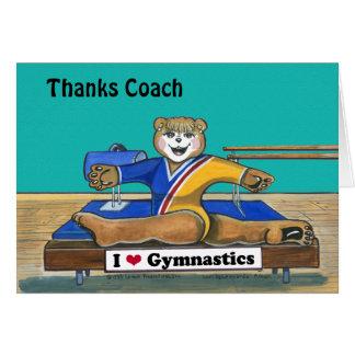 Female Gymnast Greeting Card for Coach