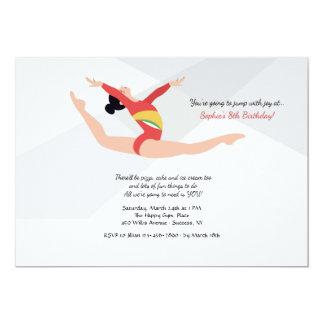 Female Gymnast Invitation