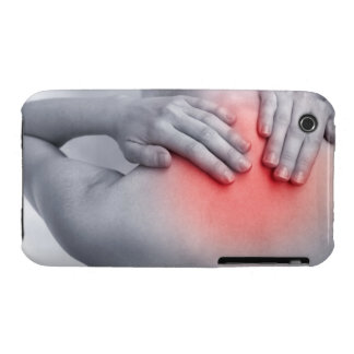 Female hands hold the base of the neck between Case-Mate iPhone 3 case