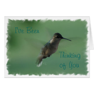 Female Hummingbird in Flight-any occasion Card