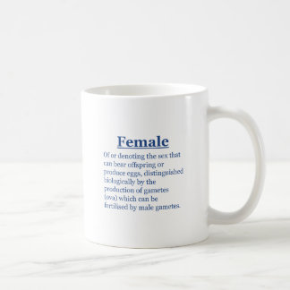 Female in Blue Coffee Mug