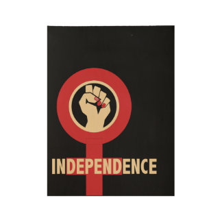 Female Independence Wood Poster