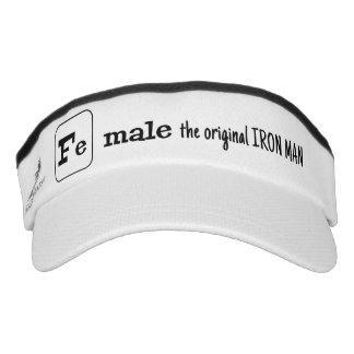 Female iron element sports pun visor