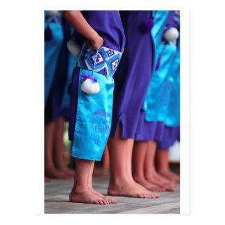 Female Kapa Haka Maori dancing Waitangi Postcard