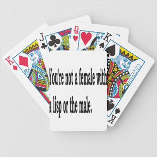 Female Lisp, 2 Bicycle Playing Cards