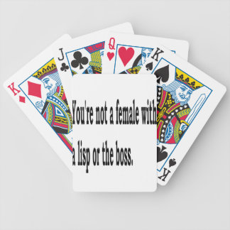 Female Lisp, 3w Bicycle Playing Cards