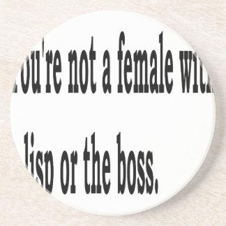Female Lisp, 3w Coaster