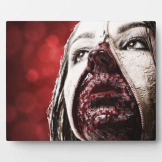 Female makup blood photo plaque