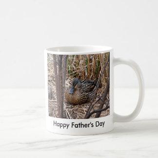 female malard duck, Happy Father's Day Mugs
