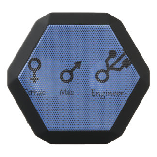 Female, male, engineer black bluetooth speaker