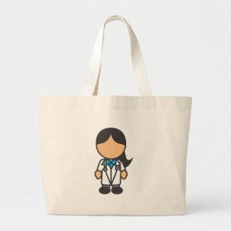 Female Medical Doctor Profession Jumbo Tote Bag