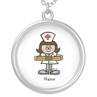 Female Nurse Necklace  Customize It with Name