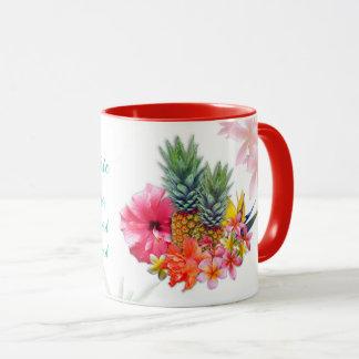 Female Pastor Teacher Tropical Flowers Mug