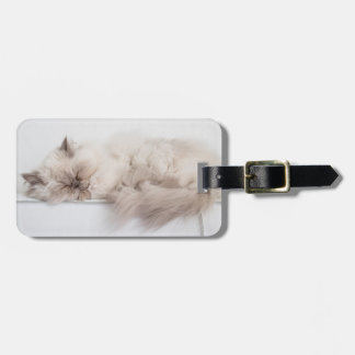 Female Persian Cat Luggage Tag