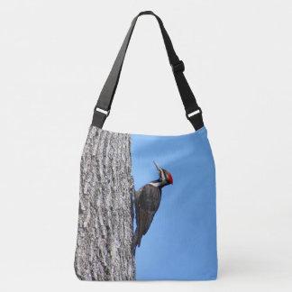 Female Pileated Woodpecker Crossbody Bag