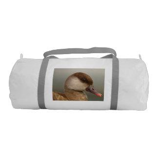 Female pochard duck, netta rufina gym bag