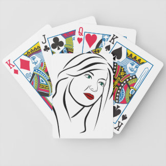 Female Portrait Bicycle Playing Cards