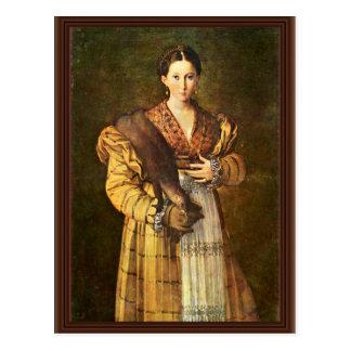 """Female Portrait Called """"Lâ € ™ Antea"""" """""""" By Parmig Postcard"""