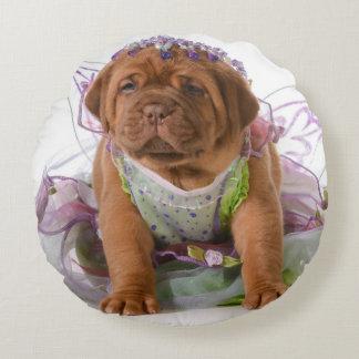 Female Puppy - Dogue De Bordeaux Puppy Round Cushion