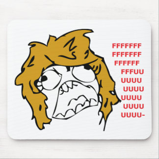 Female Rage Mouse Pad