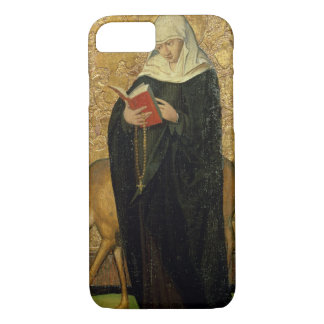 Female Saint with a Stag (oil on panel) iPhone 7 Case