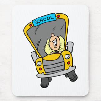 Female School Bus Driver Gift Idea Mouse Pad