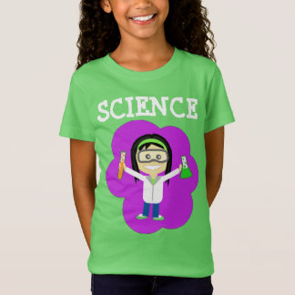 Female Scientist on Girls' Fine Jersey T-Shirt