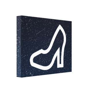Female Shoes Minimal Gallery Wrap Canvas