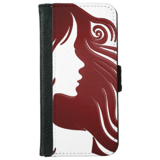Female Silhouette iPhone 6 Wallet Case