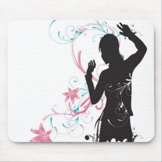 Female silhouette Mousepad
